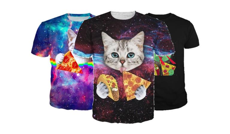 5 חולצות חתולים עם פיצה מגניבות שתוכלו לקנות עכשיו באמאזון